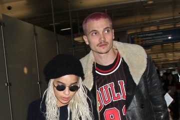 Zoe Kravitz Karl Glusman Zoe Kravitz & Karl Glusman Departing On A Flight At LAX