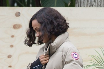 Zoe Saldana Ben Affleck on the Set of 'Live By Night' in Long Beach