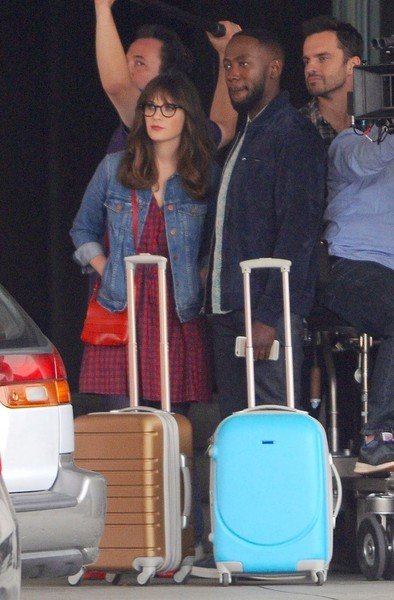 Stars On The Set Of 'New Girl'