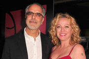 WIGS co-creator Jon Avnet (L) and actress Virginia Madsen attend the party to celebrate the one year anniversary of The WIGS Digital Channel at Akasha on May 2, 2013 in Culver City, California.