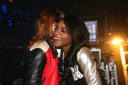 Singers Caroline Hjelt of Icona Pop (L) and Normani Hamilton of Fifth Harmony attend 106.1 KISS FM's Jingle Ball 2013, at Comcast Arena at Everett on December 8, 2013 in Seattle, Washington.