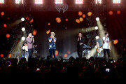 (L-R) Singers Liam Payne, Niall Horan, Harry Styles, and Louis Tomlinson of One Direction perform onstage during 106.1 KISS FM's Jingle Ball 2015 presented by Capital One at American Airlines Center on December 1, 2015 in Dallas, Texas.