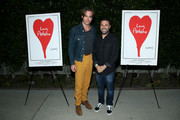 """Chris Pine and director Garret Price attend the 10th anniversary screening of """"Star Trek"""" at Hollywood Forever and trailer premiere of """"Love, Antosha"""" at Hollywood Forever on June 09, 2019 in Hollywood, California."""