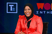 Ibtihaj Muhammad speaks during the 10th Anniversary Women In The World Summit at David H. Koch Theater at Lincoln Center on April 12, 2019 in New York City.