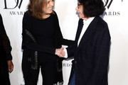 (L-R) Gloria Steinem and Fran Lebowitz attend 10th Annual DVF Awards at Brooklyn Museum on April 11, 2019 in New York City.