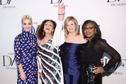(L-R) Katy Perry, Diane von Furstenberg, Arianna Huffington, and Anita Hill attend 10th Annual DVF Awards at Brooklyn Museum on April 11, 2019 in New York City.