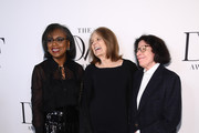 (L-R) Anita Hill, Gloria Steinem and Fran Lebowitz attend 10th Annual DVF Awards at Brooklyn Museum on April 11, 2019 in New York City.
