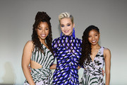 Katy Perry poses with Chloe X Halle during the 10th Annual DVF Awards at Brooklyn Museum on April 11, 2019 in New York City.