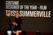 Elle Creative Director Joe Zee presents Trish Summerville with the award for Costume Designer of the Year, Film onstage at the 10th annual Style Awards during Mercedes-Benz Fashion Week Spring 2014 at Lincoln Center on September 4, 2013 in New York City.