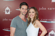 Actor Jason Behr and actress KaDee Strickland  arrive at the 11th Annual John Varvatos Stuart House Benefit  at John Varvatos on April 13, 2014 in Los Angeles, California.