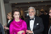 Philanthropist Mercedes Bass (L) and Tenor Placido Domingo attend the 11th Annual Opera News Awards at The Plaza Hotel on April 10, 2016 in New York City.