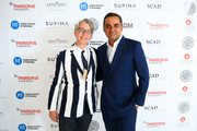 VP Marketing and Promotions at Supima, Buxton Midyette and Designer Bibhu Mohapatra attends the 11th Annual Supima Design Competition during New York Fashion Week on September 6, 2018 in New York City.
