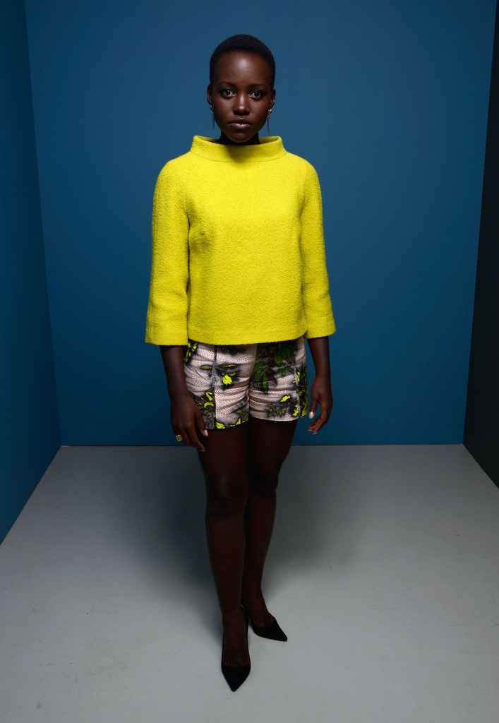 Actress Lupita Nyong'o of '12 Years A Slave' poses at the Guess Portrait Studio during 2013 Toronto International Film Festival on September 7, 2013 in Toronto, Canada.