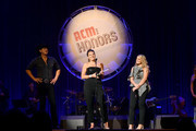 (L-R) Jon Pardi, Mattie Jackson Selecman and Lauren Alaina speak onstage during the 12th Annual ACM Honors at Ryman Auditorium on August 22, 2018 in Nashville, Tennessee.