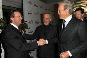 (L-R)  AFI President Bob Gazzale and Producer/ Directors Steven Spielberg and Clint Eastwood arrive at the 12th Annual AFI Awards held at the Four Seasons Hotel Los Angeles at Beverly Hills on January 13, 2012 in Beverly Hills, California.