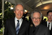 (L to R) Prodcuer / Directors Clint Eastwood and Steven Spielberg arrive at at the 12th Annual AFI Awards held at the Four Seasons Hotel Los Angeles at Beverly Hills on January 13, 2012 in Beverly Hills, California.
