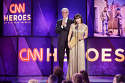 Ted Danson (L) and Mary Steenburgen present an award onstage during the 12th Annual CNN Heroes: An All-Star Tribute  at American Museum of Natural History on December 9, 2018 in New York City.
