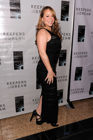 Mariah Carey Singer Mariah Carey poses on the red carpet at the 12th annual Keepers Of The Dream Awards at the Sheraton New York Hotel & Towers on April 15, 2010 in New York City.