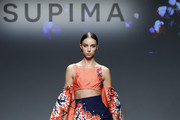 A model walks the runway during the 12th Annual Supima Design Competition at Pier 59 Studios on September 05, 2019 in New York City.