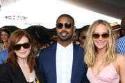 (L-R) Julianne Moore, Michael B. Jordan, and Jennifer Lawrence attend the 12th Annual Veuve Clicquot Polo Classic at Liberty State Park on June 01, 2019 in Jersey City, New Jersey.
