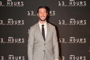 Actor Pablo Schreiber attends the Dallas Premiere of the Paramount Pictures film '13 Hours: The Secret Soldiers of Benghazi' at the AT&T Dallas Cowboys Stadium on January 12, 2016 in Arlington, Texas.