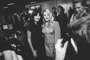 Ellie Goulding (R) representing Centrepoint and  Davina McCall representing Action Medical Research (L) attend the BGC Charity Day on September 11, 2017 in Canary Wharf, London, United Kingdom.