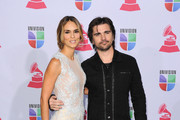 Actress/model Karen Martinez (L) and singer Juanes arrives at the 13th annual Latin GRAMMY Awards held at the Mandalay Bay Events Center on November 15, 2012 in Las Vegas, Nevada.