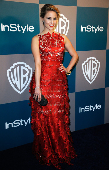 Actress Dianna Agron arrives at 13th Annual Warner Bros. And InStyle Golden Globe Awards After Party at The Beverly Hilton hotel on January 15, 2012 in Beverly Hills, California.