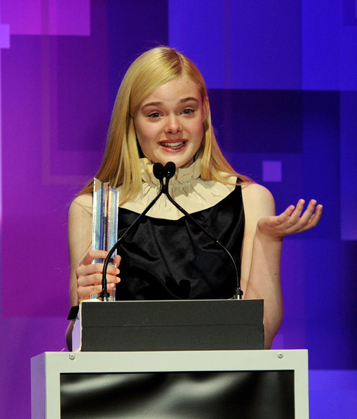 Actress Elle Fanning receives the Actress of the Year award at the 13th Annual Young Hollywood Awards at Club Nokia on May 20, 2011 in Los Angeles, California.