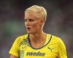 Carolina Kluft of Sweeden prepares to compete during day two of 13th IAAF World Athletics Championships at the Daegu Stadium on August 28, 2011 in Daegu, South Korea.