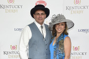 Panthers football coach Ron Rivera (L) and  Stephanie Rivera attend the 142nd Kentucky Derby at Churchill Downs on May 07, 2016 in Louisville, Kentucky.