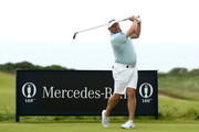 Lee Westwood of England plays his shot from the 11th tee during a practice round prior to the 148th Open Championship held on the Dunluce Links at Royal Portrush Golf Club on July 16, 2019 in Portrush, United Kingdom.