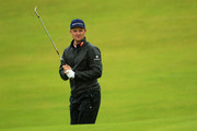 Justin Rose of England looks on the 11th hole during a practice round prior to the 148th Open Championship held on the Dunluce Links at Royal Portrush Golf Club on July 17, 2019 in Portrush, United Kingdom.