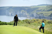 Francesco Molinari of Italy looks on during a practice round prior to the 148th Open Championship held on the Dunluce Links at Royal Portrush Golf Club on July 16, 2019 in Portrush, United Kingdom.