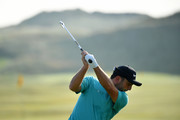 Francesco Molinari of Italy plays a shot on the range during a practice round prior to the 148th Open Championship held on the Dunluce Links at Royal Portrush Golf Club on July 16, 2019 in Portrush, United Kingdom.