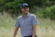 Justin Thomas of the United States reacts during a practice round prior to the 148th Open Championship held on the Dunluce Links at Royal Portrush Golf Club on July 16, 2019 in Portrush, United Kingdom.