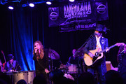 Lisa Marie Presley and Husband Michael Lockwood perform at 3rd &  Lindsley during the 14th Annual Americana Music Festival & Conference - Festival - Day 3 on September 20, 2013 in Nashville, United States.