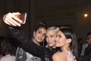 Taylor Hill, Karlie Kloss and Sara Sampaio attend the 14th Annual CFDA/Vogue Fashion Fund Awards at Weylin B. Seymour's on November 6, 2017 in the Brooklyn borough of New York City, New York.