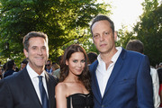(L-R) Honoree Michael Wright, Kyla Weber and actor Vince Vaughn attend the 14th annual Chrysalis Butterfly Ball sponsored by Audi, Kayne Anderson, Lauren B. Beauty and Z Gallerie on June 6, 2015 in Los Angeles, California.