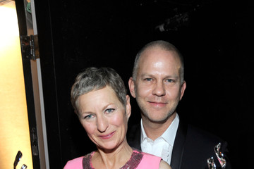 Ryan Murphy Lou Eyrich Backstage at the Costume Designers Guild Awards