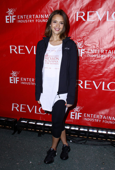 Jessica Alba attends the 14th Annual EIF Revlon Run/Walk for women in Times Square on April 30, 2011 in New York City.