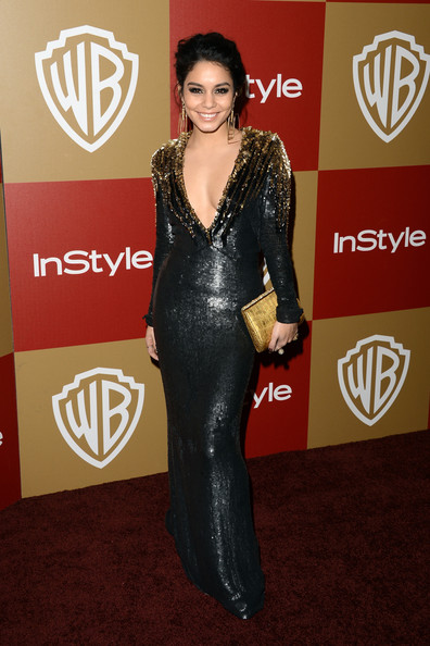 Actress Vanessa Hudgens attends the 14th Annual Warner Bros. And InStyle Golden Globe Awards After Party held at the Oasis Courtyard at the Beverly Hilton Hotel on January 13, 2013 in Beverly Hills, California.