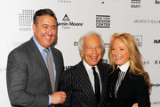 (L-R) Award winner Alfredo Paredes, Ralph Lauren and Ricky Lauren attend DIFFA's 15th annual Dining by Design Dinner gala at Pier 94 on March 26, 2012 in New York City.