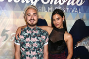 Russo Schelling and Janina Gavankar attend the 15th Annual Oscar Qualifying HollyShorts Film Festival - Opening Night Gala at TCL Chinese 6 Theatres on August 08, 2019 in Hollywood, California.