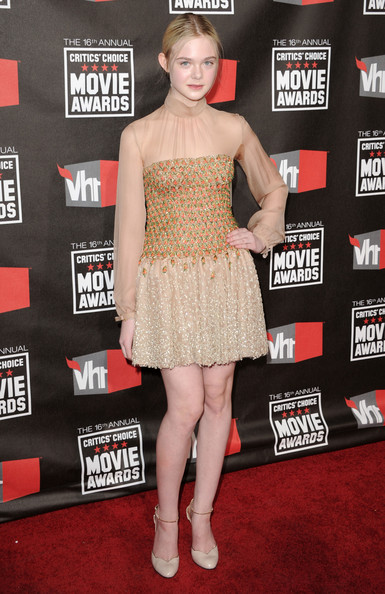 Actress Elle Fanning arrives at the 16th annual Critics' Choice Movie Awards at the Hollywood Palladium on January 14, 2011 in Los Angeles, California.