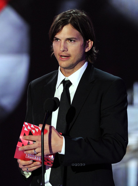Actor Ashton Kutcher speaks onstage during the 16th annual Critics' Choice Movie Awards at the Hollywood Palladium on January 14, 2011 in Los Angeles, California.
