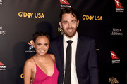 Miranda Tapsell and James Colley attend the 16th annual G'Day USA Los Angeles Gala at 3LABS on January 26, 2019 in Culver City, California.