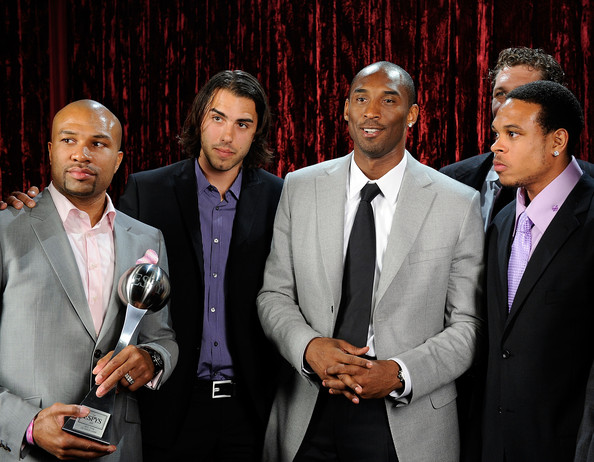 In This Photo: Kobe Bryant, Sasha Vujacic, Luke Walton