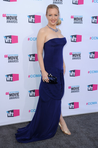 Actress Wendi McLendon-Covey arrives at the 17th Annual Critics' Choice Movie Awards held at The Hollywood Palladium on January 12, 2012 in Los Angeles, California.