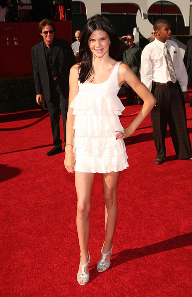 Kendall Jenner Kendall Jenner arrives at the 2009 ESPY Awards held at Nokia Theatre LA Live on July 15, 2009 in Los Angeles, California. The 17th annual ESPYs will air on Sunday, July 19 at 9PM ET on ESPN.
